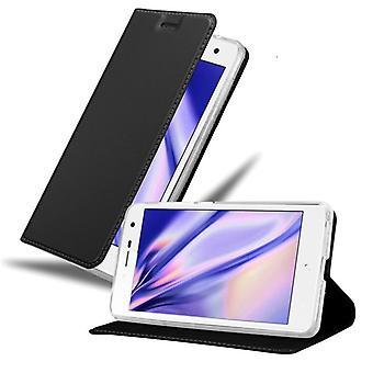 Cadorabo-fodral för ZTE Blade L7-fodral - Mobiltelefonfodral med magnetlås, ståfunktion och kortfack – Case Cover Protective Case Book Folding Style