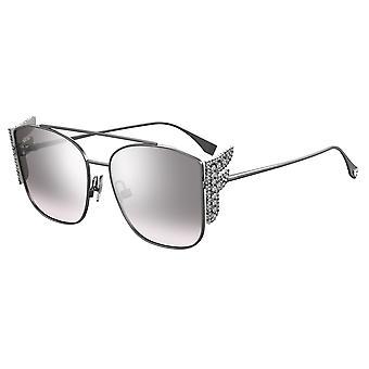 Fendi FF0380/G/S 6LB/IC Ruthenium/Grey-Silver Mirror Sunglasses