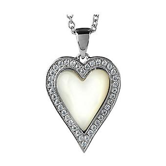 Orton West Heart with Mother of Pearl Pendant - Silver