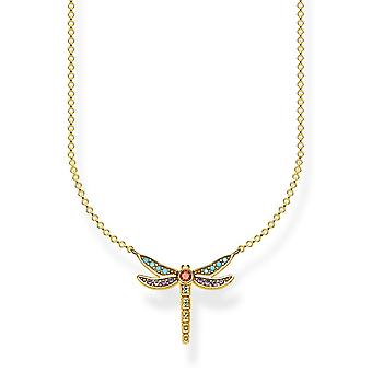 Thomas Sabo Paradise Gold Dragonfly Necklace