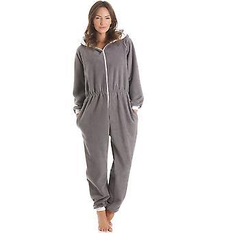 Камиль ватки с капюшоном все в один серый Onesie пижама