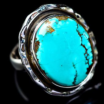 Tibetan Turquoise Ring Size 5.75 (925 Sterling Silver)  - Handmade Boho Vintage Jewelry RING5485