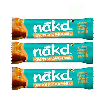 Naked Health Bars Pack av 9 Raw Fruit Nut Bar Vegan Inget tillsatt socker (Saltad Karamell)