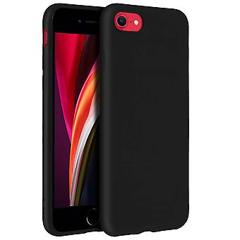 Forcell case for iPhone 7, iPhone 8, soft touch cover, silicone TPU case – Black