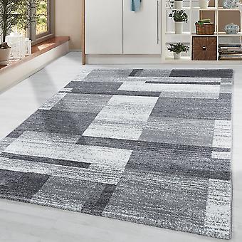 Rug Moderne Designer Plaid Patroon Woonkamer Soft Flor Grijs Witte Kleur