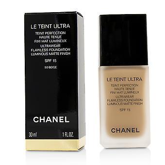 Le teint ultra ultrawear flawless foundation luminous matte finish spf15   # 50 beige 30ml/1oz