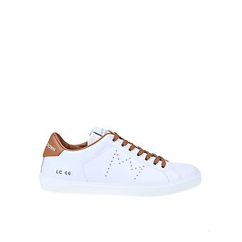 Cuir Crown Mlc06601 Baskets en cuir blanc pour hommes;apos
