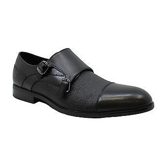 Alfani Miesten & s Luxton Kuvioitu Double Monk Cap-Toe Mokkasiinit Musta