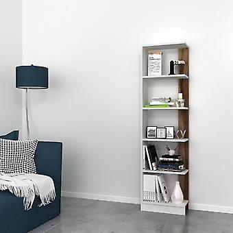 Pupis White Color Library, Melaminic Chip Nut, PVC 45x22x170 cm