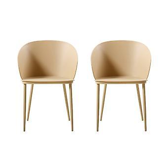 Metalowe krzesło Cachi Color, PP 55x56x80,5 cm
