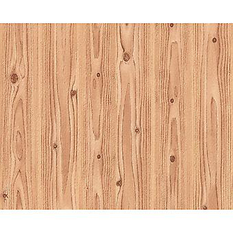 A.S. Creation AS Creation Wood Effect Pattern Pine Oak Embossed Brown Wallpaper