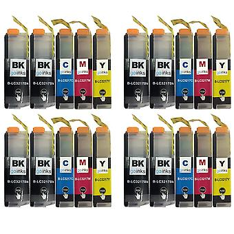 4 Seturi + Extra Black pentru a înlocui Brother LC3217 Compatibil/non-OEM de Către Go Cerneluri (20 Cerneluri)