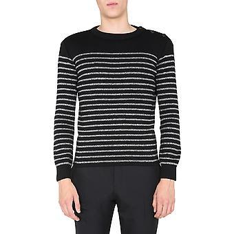 Saint Laurent 588078yafs21081 Men's Black Cotton Sweater