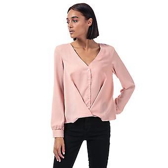 Frauen's Vero Moda Karola Wrapover Bluse in Pink