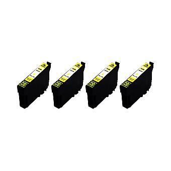 RudyTwos 4 x produit compatible pour Epson 34XL(GolfBall) encre unité jaune Compatible avec WF-3725DWF, 3725DW-WF, WF-3720DWF, WorkForce Pro WF-3720DW