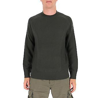 Z Zegna Vvp13zz11v08 Men's Suéter de Algodão Verde