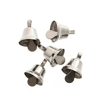 7 Silver 8mm Liberty Jingle Bells for Crafts