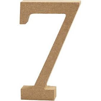 13cm Large Wooden MDF Number Shape to Decorate - 7 | Wood Shapes for Crafts