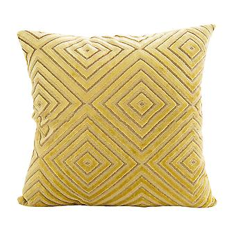 YANGFAN Square Flocking Geometry Waist Cushion Pillow Covers