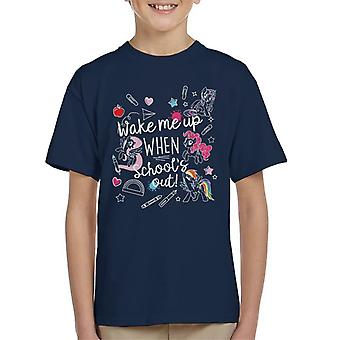 My Little Pony Wake Me Up When Schools Out Kid's T-Shirt