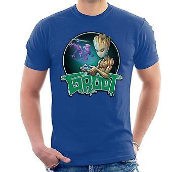 Marvel Guardians Of The Galaxy Teenage Gamer Groot Men's T-Shirt