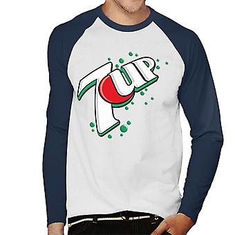 7up 00s Bubble Logo Men 's Baseball Long Sleeved T-Shirt