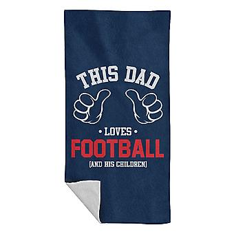 This Dad Loves Football And His Children Beach Towel