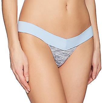 Merk - Mae Women's Seamless V Thong, 5 Pack, Blue Indigo Stripe/Black/...