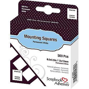 Scrapbook Adhesives Mounting Squares White (500pcs) (01604)