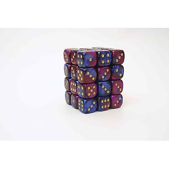 Chessex Gemini 12mm D6 Block - Blue-Purple/gold