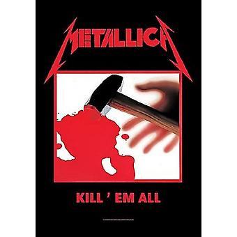 Metallica Poster Kill Em All Album Cover Official New Textile Flag 70cm x 106cm