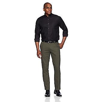 BUTTONED DOWN Men's Classic Fit Supima Cotton Button-Collar Dress Casual Shir...