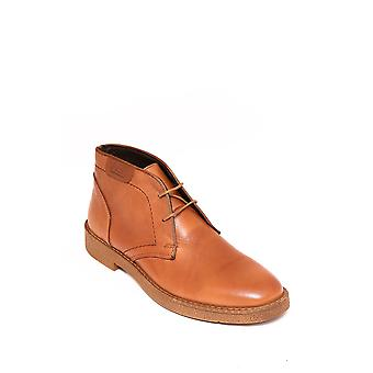 Genuine leather laced tawny boots | wessi