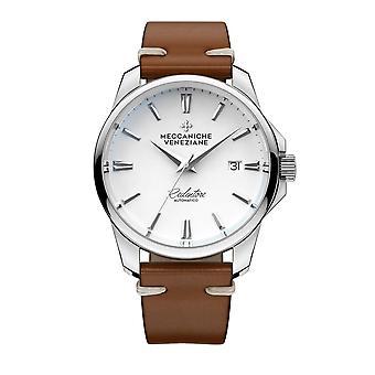 Meccaniche Veneziane 1301001 Redentore Automatic Brown Leather Wristwatch