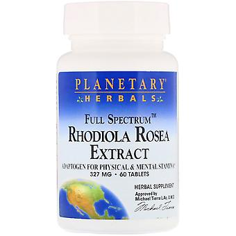 Planetary Herbals, Rhodiola Rosea Extract, Full Spectrum, 327 mg, 60 Tablets