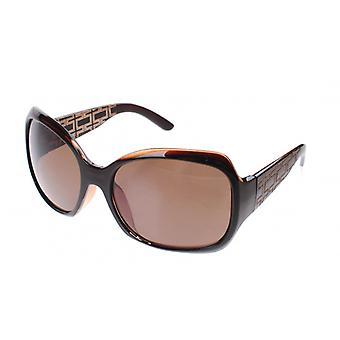 Lunettes de soleil femmes noir avec lentille brune (A60420)