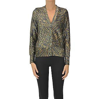 Ganni Ezgl419010 Dames's Multicolor Polyester Cardigan