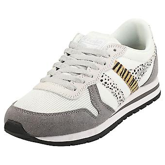 Gola Daytona Safari Womens Mode Utbildare i Off White Ash