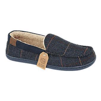 Jo & Joe Mens Fleece Lined Moccasin Winter Warm Hard Sole Slippers
