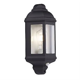 Searchlight Outdoor - 1 vaalea ulkoseinälyhty musta , Valkoinen IP44, E27