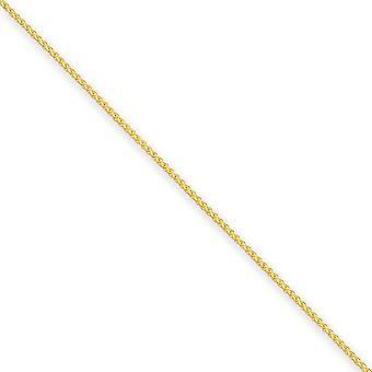 14K sárga arany tömör polírozott homár Körmös bezárása 1.25 mm Spiga lánc nyaklánc-hossz: 14-hoz 30
