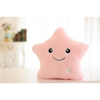 Creative Toy Luminous Pillow Soft Stuffed Plush Glowing Colorful Stars Cushion Led Light - Gift For Kids Children Girls
