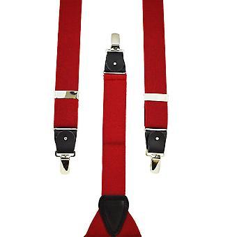 Ties Planet Plain Red Men's Trouser Braces
