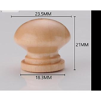 10kpl / 24 * 21mm puinen nuppilaatikko vetää kaapin, vaatekaapin kahva pyöreä
