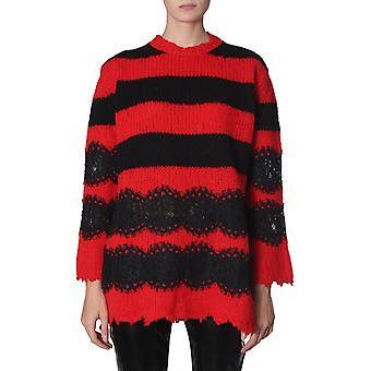 Filosofia Por Lorenzo Serafini 092357051112 Mulheres 's Suéter de Lã Preto/Vermelho