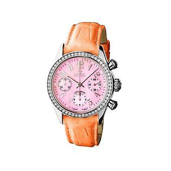 Gevril Women's 2911 Lafayette Automatisk Kronograf Datum DIAMOND Läder Klocka