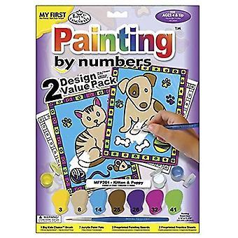 Min första paint efter nummeruppsättning - Kattunge & valp