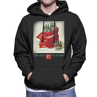 7up Christmas Sack Poster Design Men's Hooded Sweatshirt