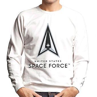 U.S. Space Force Lighter Logo Dark Text Men's Sweatshirt