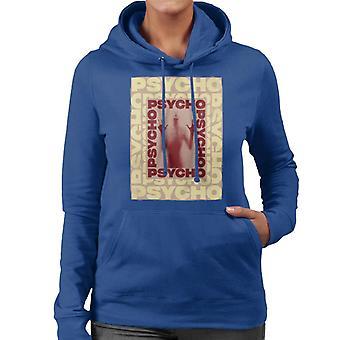 Psycho Psycho Psycho Mirror Silhouette Women's Hooded Sweatshirt